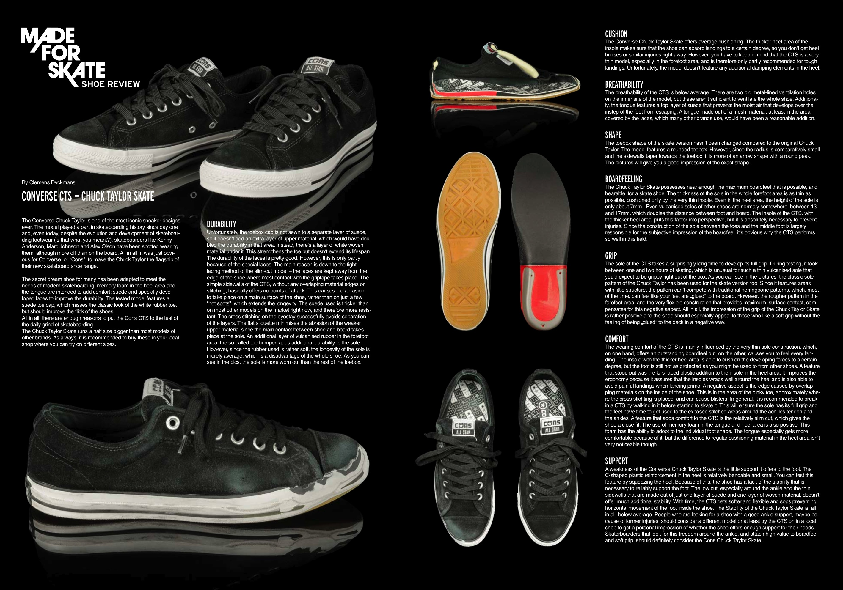 Converse Chuck Taylor Skate review Weartested detailed